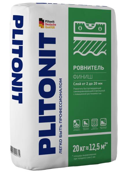 Ровнитель быстротвердеющий финишный Плитонит Финиш 20кг - купить в Санкт-Петербурге, отзывы. ТД «Вимос»